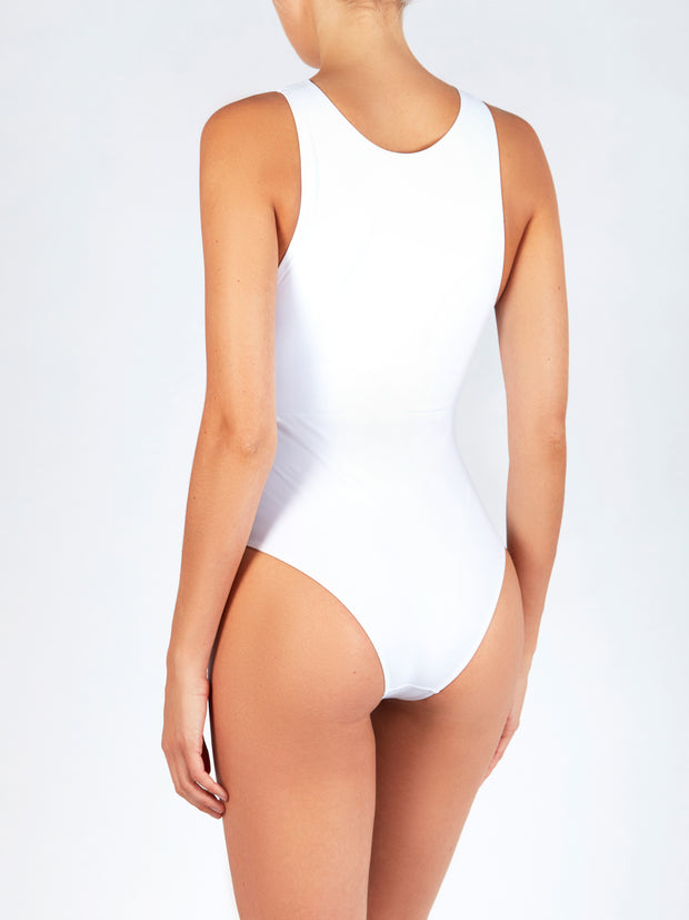 EVARAE ITEA DIAMOND ONE PIECE IN WHITE/NUDE MATTE