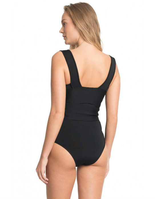 Black High Waist Tricot Bikini Bottom