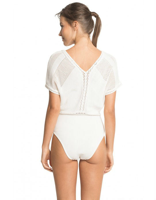 Off White Tricot One Piece