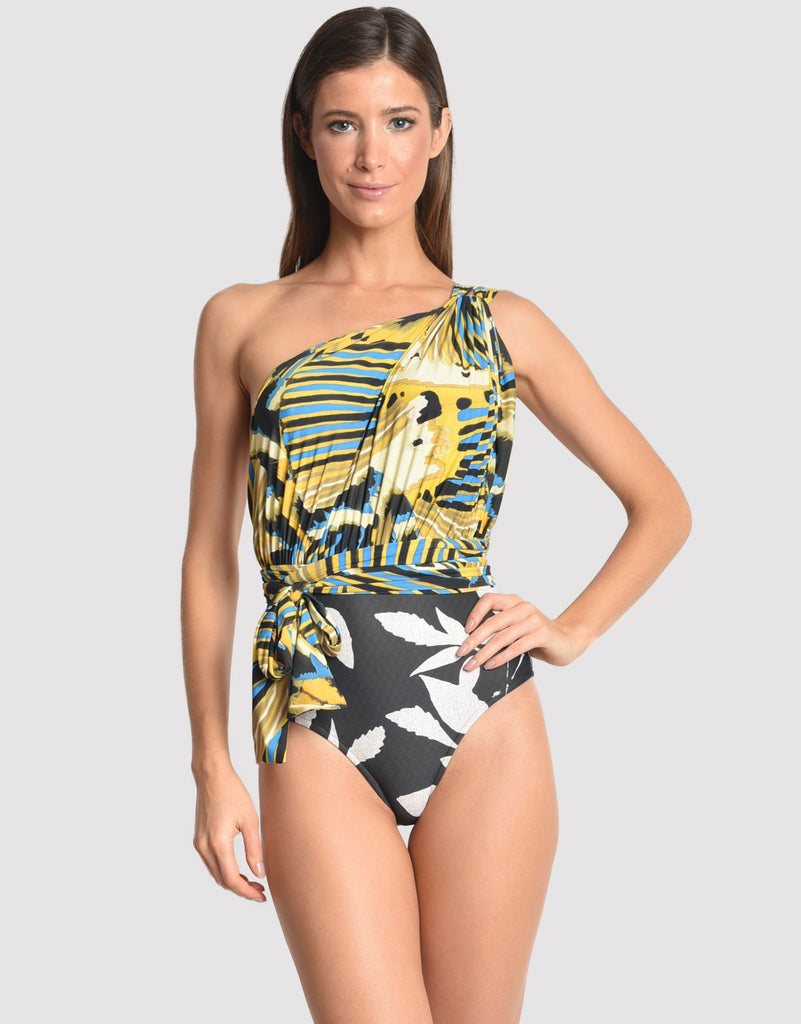 Greek One Shoulder One Piece in Panapana