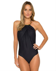 Touch Bamboo Maillot in Black