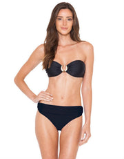 Lenny Niemeyer Black Touch Bone Bandeau Bikini