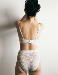 Agnes Soft Cup Triangle Bra in Ivory Lace