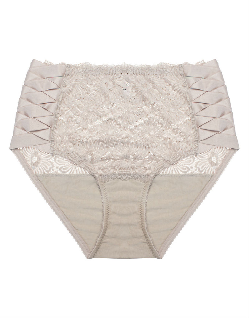 Patsy High Waist Brief Pebble