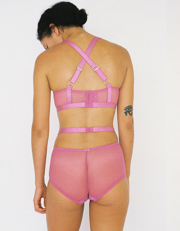 Lonely Lulu High Waist Brief Fuschia
