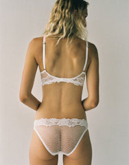 Bonnie Lace Bikini Brief in Ivory