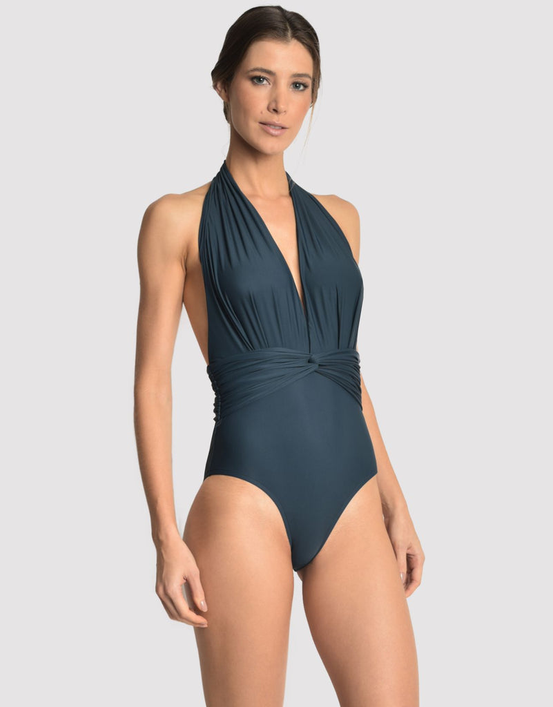 Deep V One Piece in Blue Star