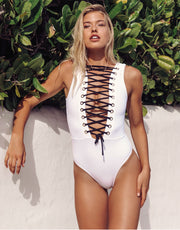 Oye Swimwear Naomi One Piece in White