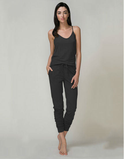 Pima Cotton Jersey Skinny Pant in Black