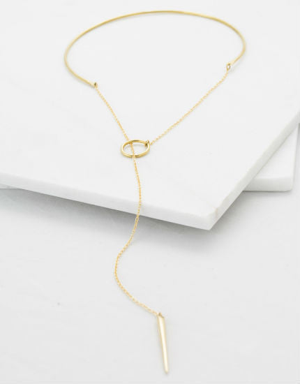 Soko Sasi Lariat Brass Choker Necklace