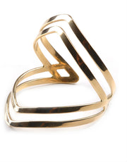Soko Double Arrow Cuff in Polished Brass