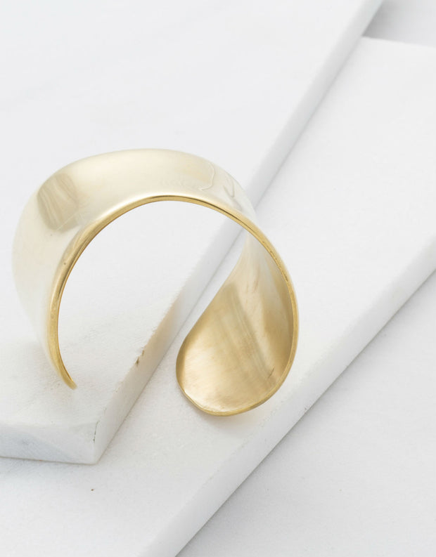 Soko Organic Cuff in Polished Brass