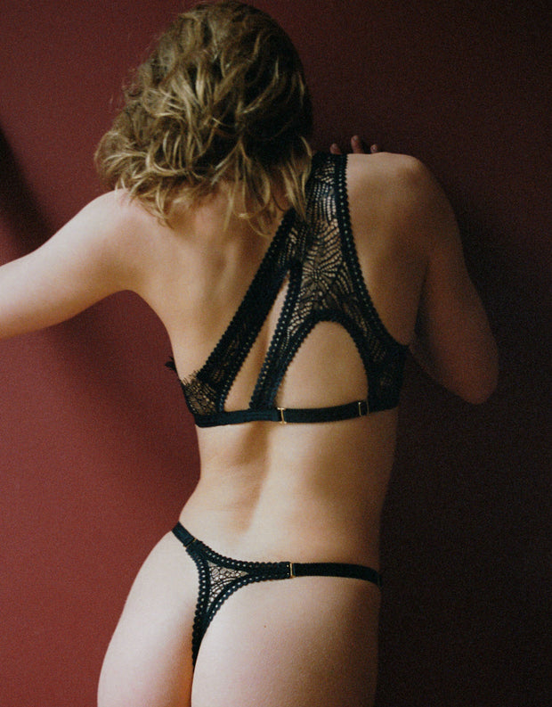 Tisja Damen Hymn Thong in Black