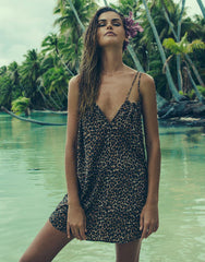 Capri Short Dress in Animal
