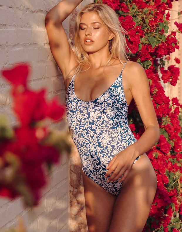 Acacia Swimwear Banyans One Piece in Blue Batik