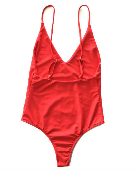 Beach Riot Bridget One Piece Swimsuit in Red with Stars