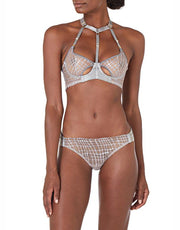 Bordella SISI OUVERT BRIEF IN PLATINUM