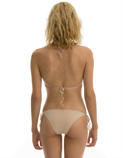 Cali Dreaming Dorado Shell Bikini Bottom in Nude