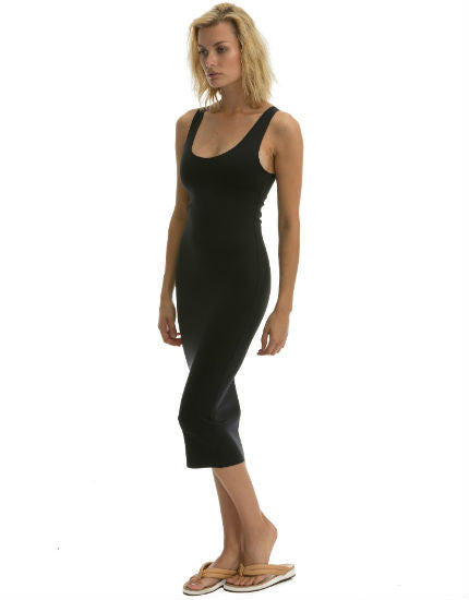 Body Dress in Black Scuba