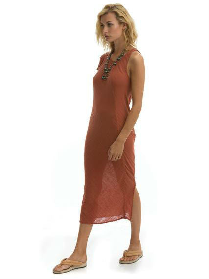 The Hudson Dress in Clay Cotton Gauze