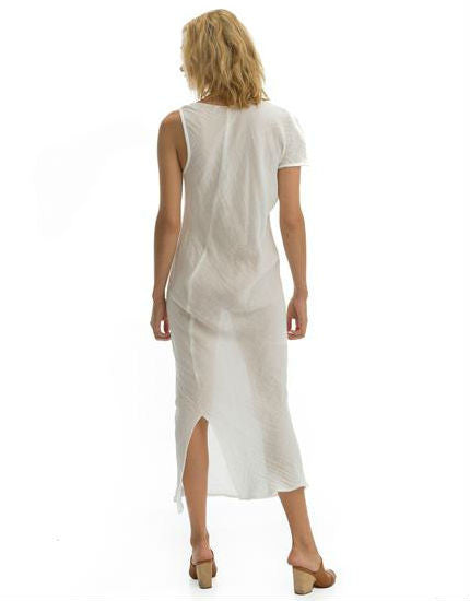 Cali Dreaming The Hudson Dress in White Cotton Gauze