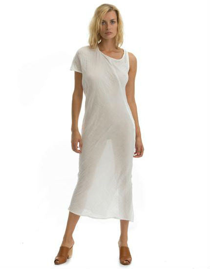 The Hudson Dress in White Cotton Gauze