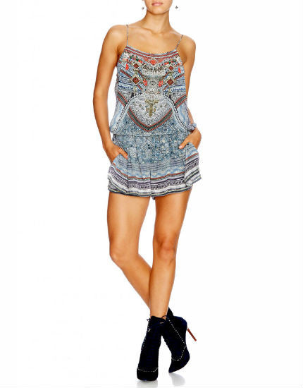 Antique Batik Shoestring Playsuit