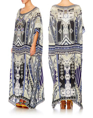 Tie the Knot Long Round Neck Kaftan
