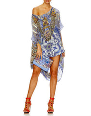 It Was All A Dream Long Silk Round Neck Kaftan