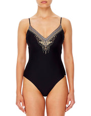 CAMILLA TIE BACK V-NECK ONE PIECE