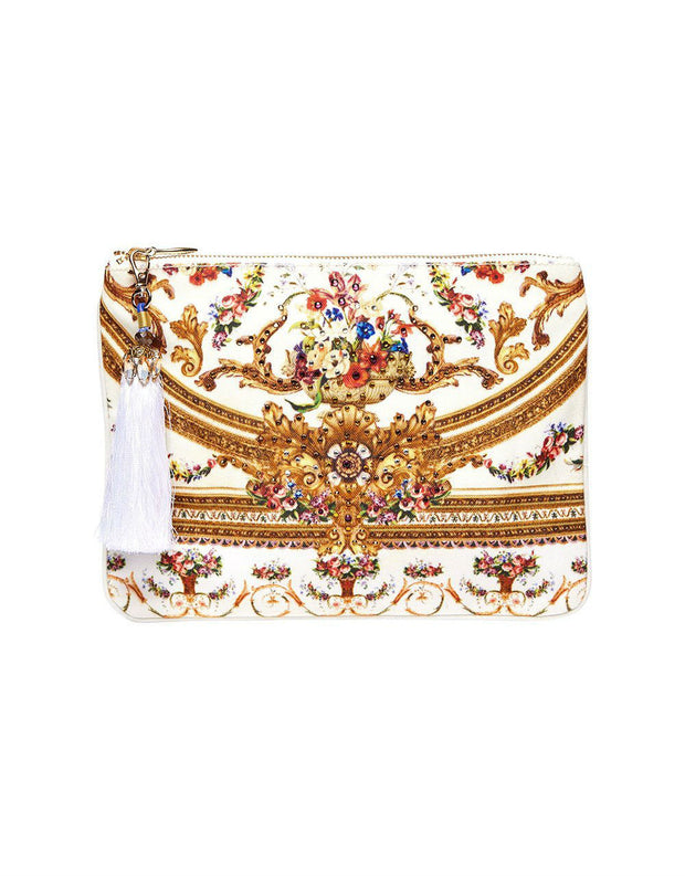 Camilla Olympe Ode SMALL CANVAS CLUTCH