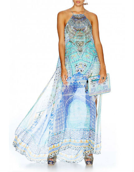 Sultans Gate Sheer Silk Overlay Dress