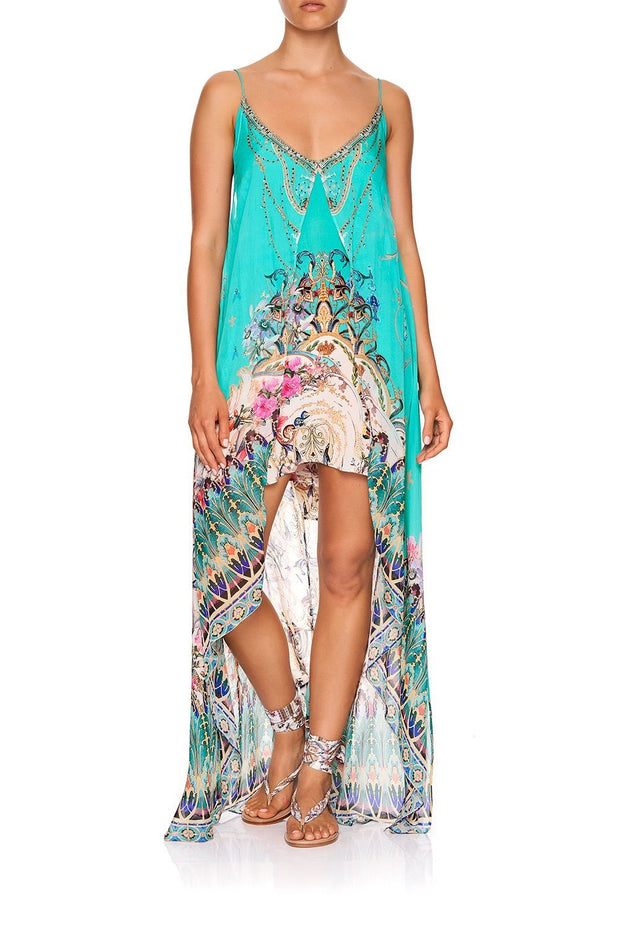 Camilla Floraison FLARED MINI WITH SHEER OVERLAY