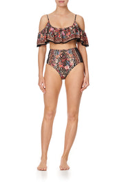 Camilla Liv A Little Frill Crop Top Bikini Top, A-C Cup