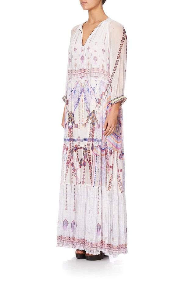 Tanami Road Long Gathered Panel Dress