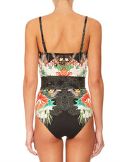 Camilla QUEEN OF KINGS BANDEAU ONE PIECE WITH BELT