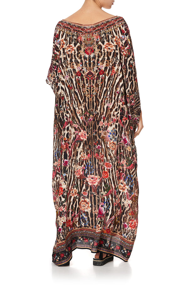 Camilla Liv A Little round neck silk kaftan dress