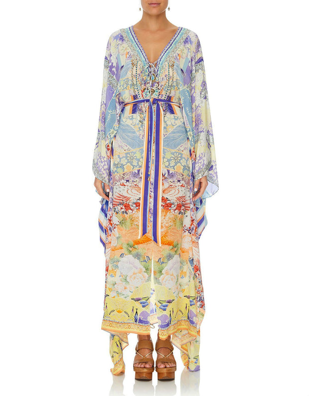 camilla-girl-in-the-kimono-split-hem-lace-up-kaftan