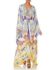 Camilla GIRL IN THE KIMONO SPLIT HEM LACE UP KAFTAN