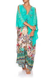 Floraison SPLIT SLEEVE KAFTAN WITH HARDWARE