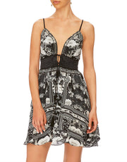 Camilla TIE FRONT MINI DRESS WILD MOONCHILD