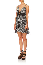 TIE FRONT MINI DRESS WILD MOONCHILD