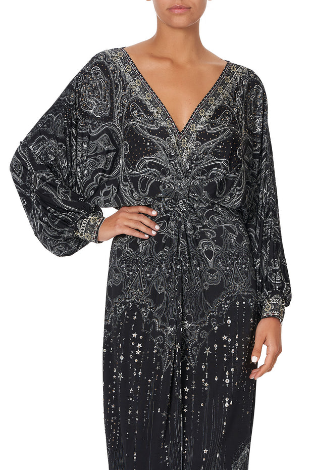 Camilla Midnight Pearl Twist Front Dress