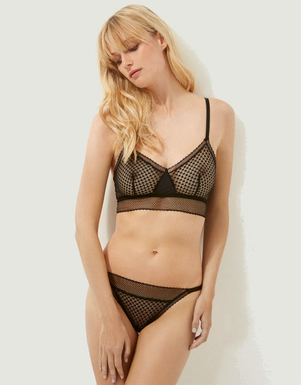 Else Lingerie Bella Soft Cup Triangle Bra in Black