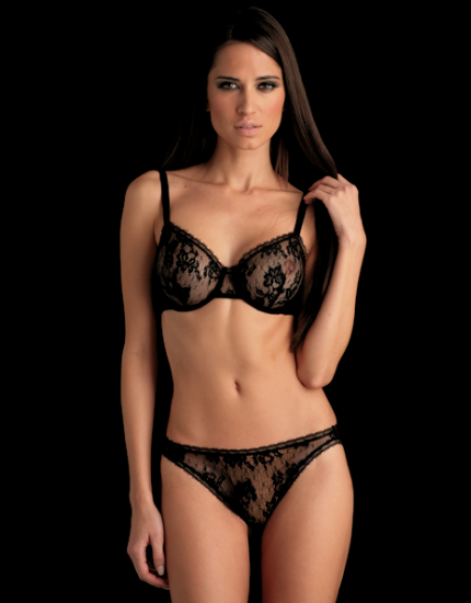 Daneel Lace Bikini Brief in Black
