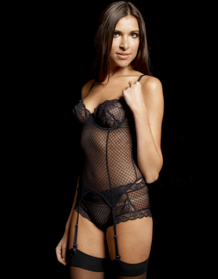 Reverence Lace Navy Basque