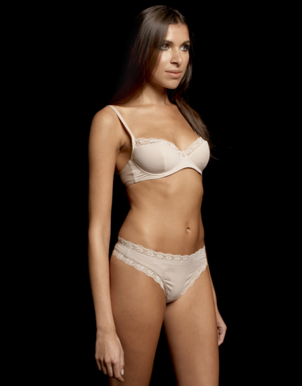 Cotton Opel Padded Balcony Bra in Light Nude