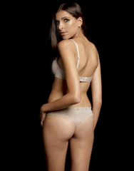 Cotton Opel Thong in Light Nude