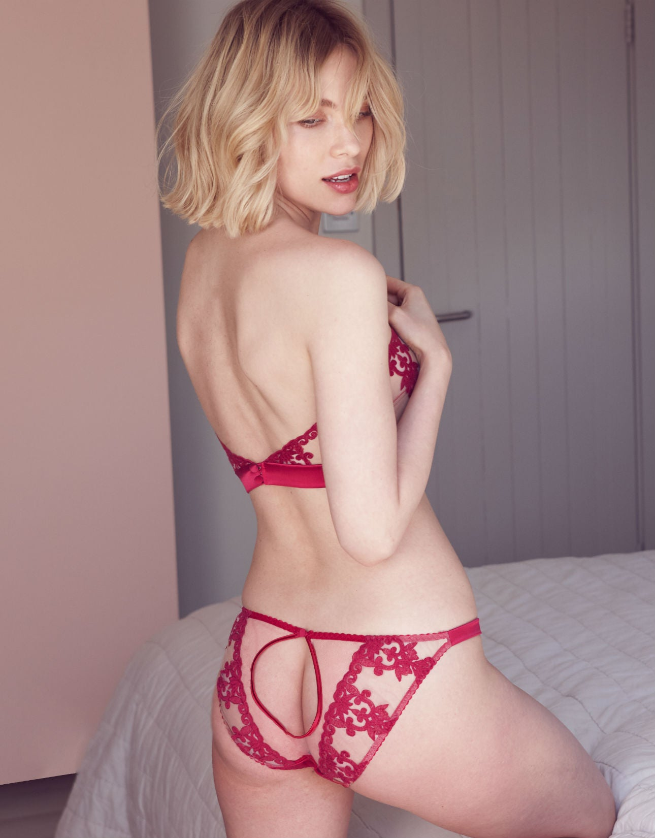 Wallflower Embroidered Ouvert Brief