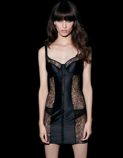 Iconic Black Silk Babydoll
